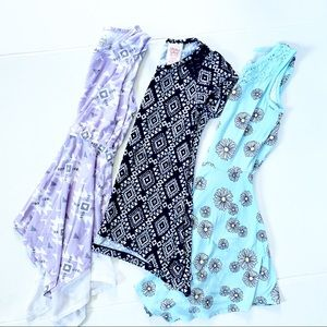Purple, Navy, & Light Blue Girls small dress lot
